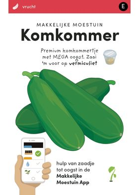 Makkelijke Moestuin zaden Komkommer